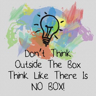 market research - think like there is no box